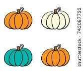 pumpkins | Shutterstock . vector #742087732