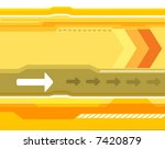 yellow bacground image | Shutterstock .eps vector #7420879
