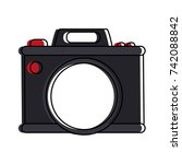 photographic camera icon image  | Shutterstock .eps vector #742088842