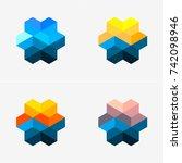 modern abstract design vector... | Shutterstock .eps vector #742098946