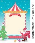 merry christmas template card...   Shutterstock .eps vector #742101472
