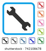 wrench icon. flat gray... | Shutterstock .eps vector #742108678