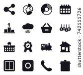 16 vector icon set   share ...