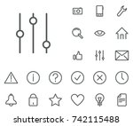 filter icon in set on the white ... | Shutterstock .eps vector #742115488