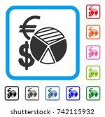 sales pie chart icon. flat grey ...