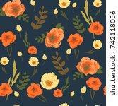 flower pattern | Shutterstock .eps vector #742118056