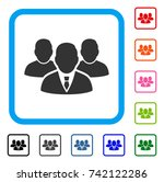 people group icon flat gray