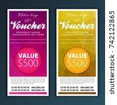 gift voucher template | Shutterstock .eps vector #742122865