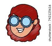 girl faceless cartoon | Shutterstock .eps vector #742125616