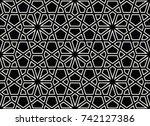 arabic geometric seamless... | Shutterstock .eps vector #742127386