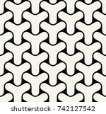 abstract seamless geometric y... | Shutterstock .eps vector #742127542