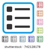 items icon. flat grey pictogram ...