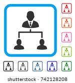 human hierarchy icon. flat gray ...