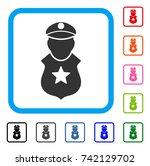 guard man icon. flat gray...   Shutterstock .eps vector #742129702