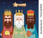 the three kings of orient. wise ...   Shutterstock .eps vector #742136905