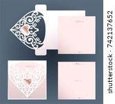 white cutout envelope for... | Shutterstock .eps vector #742137652