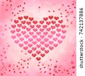 valentines day heart from... | Shutterstock . vector #742137886