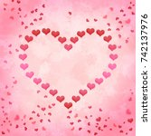 love valentines day heart with... | Shutterstock . vector #742137976