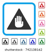 caution icon. flat grey iconic...