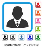 boss icon. flat grey iconic... | Shutterstock .eps vector #742140412