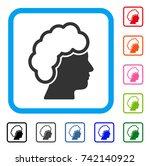 blonde profile icon. flat gray...