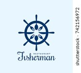 seafood restaurant vector logo... | Shutterstock .eps vector #742156972