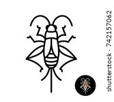 cricket insect stylized logo.... | Shutterstock .eps vector #742157062
