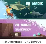virtual reality magic 2... | Shutterstock .eps vector #742159906