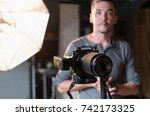 close up of the camera on the... | Shutterstock . vector #742173325