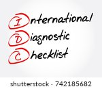idc   international diagnostic...   Shutterstock .eps vector #742185682