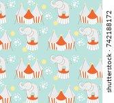 cute baby pattern | Shutterstock .eps vector #742188172