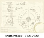 Blueprint Of The Spaceship And...