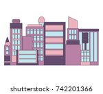 city of beauty. flat design.... | Shutterstock .eps vector #742201366