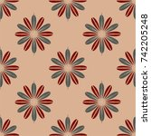 new color seamless pattern with ... | Shutterstock . vector #742205248