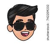 boy faceless cartoon | Shutterstock .eps vector #742209232