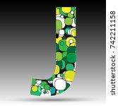 colorful bubble alphabet vector ... | Shutterstock .eps vector #742211158