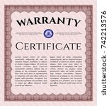 red warranty. with great... | Shutterstock .eps vector #742213576
