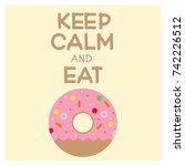 vector picture of donut with... | Shutterstock .eps vector #742226512