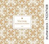 golden vintage decorative...   Shutterstock .eps vector #742247608
