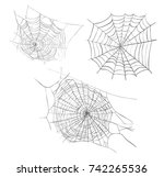 spiderweb sketch illustration.... | Shutterstock . vector #742265536