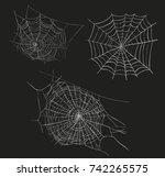 spider web sketch illustration. ... | Shutterstock . vector #742265575