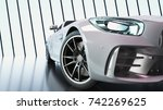 modern cars are in the studio... | Shutterstock . vector #742269625