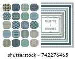 collection of 20 colorful... | Shutterstock .eps vector #742276465