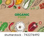 horizontal background with...   Shutterstock .eps vector #742276492