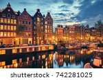 Evening Town Amsterdam In...