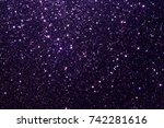 purple glitter texture... | Shutterstock . vector #742281616