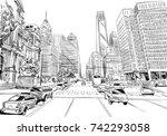 philadelphia. pennsylvania. usa.... | Shutterstock .eps vector #742293058