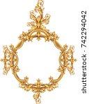 gold vintage frame isolated on... | Shutterstock .eps vector #742294042