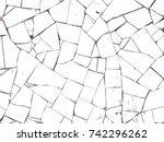 background of broken white... | Shutterstock . vector #742296262