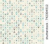 beautiful geometric pattern...   Shutterstock .eps vector #742304512